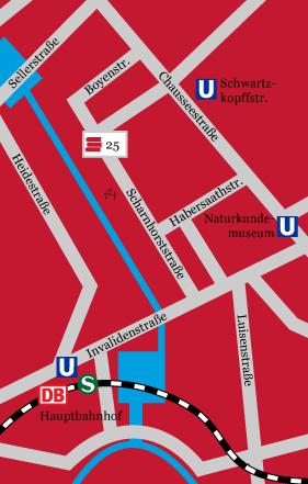 Umgebungskarte Scharnhorststraße
