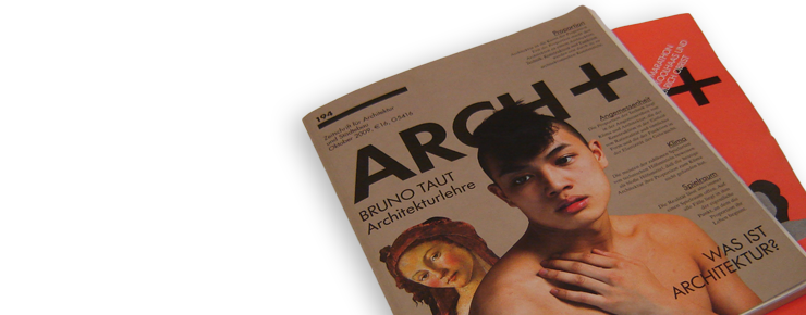 Foto des »Arch+«-Covers