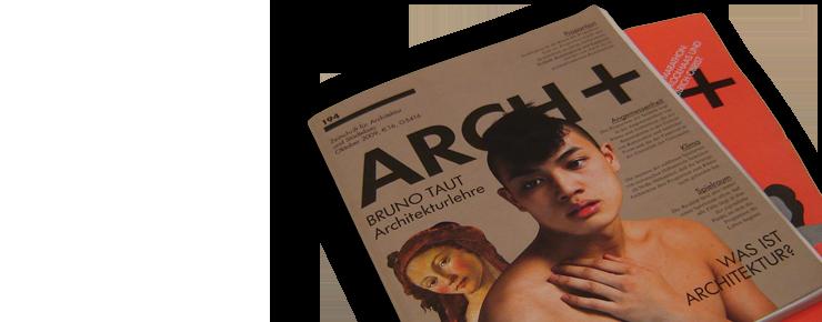 Foto des »Arch+«-Covers