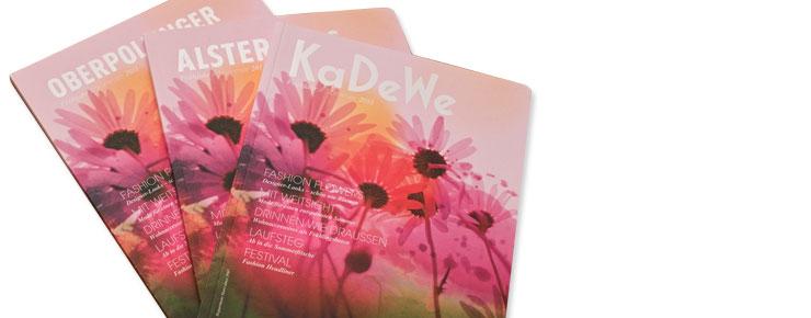 Premium-Kataloge für KaDeWe, Alsterhaus und Oberpollinger